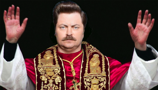 Pope Ron Swanson