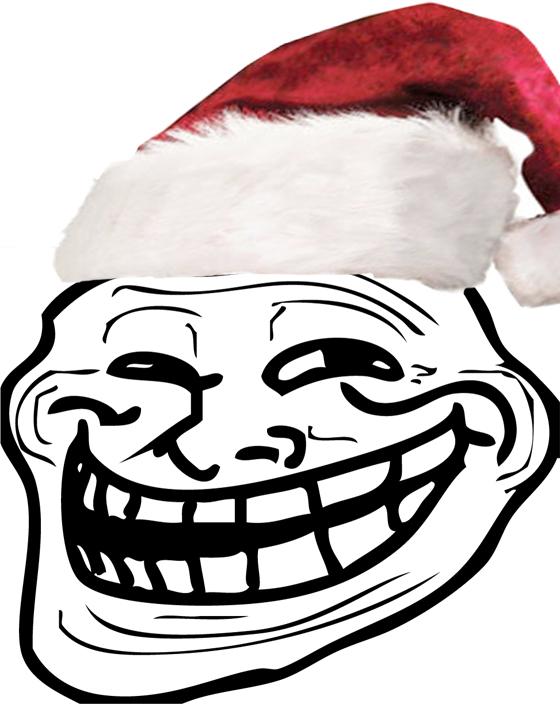 christmas trollface