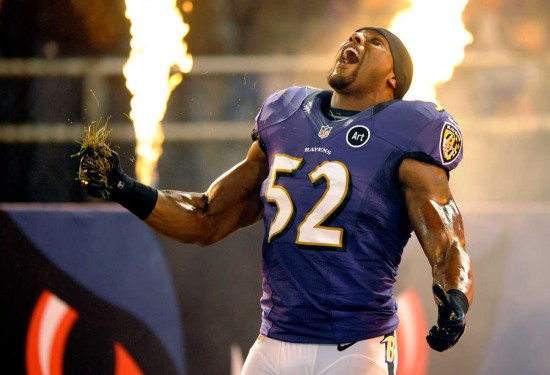 Ray Lewis enjoys grass