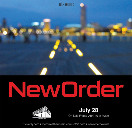 New Order Ticket Giveaway!