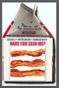 If anyone has seen these pork products, please return them to the bun.